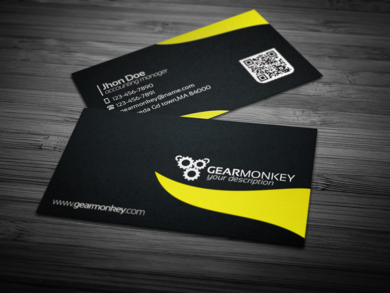 Gearmonkey Business Card v2 [Psd] by Ja Ghraphics on