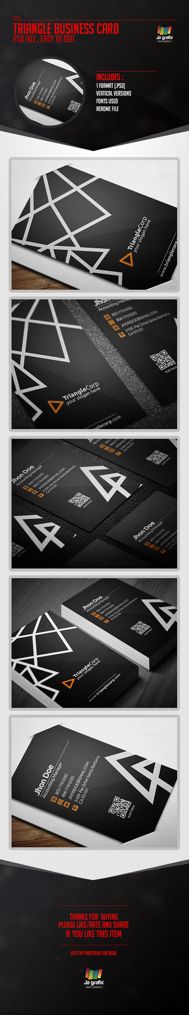 Triangle Business Card [Psd] by Ja-Ghraphics