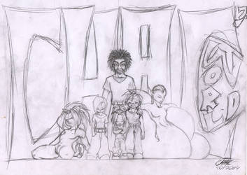 my litle world sketch by Chacartz