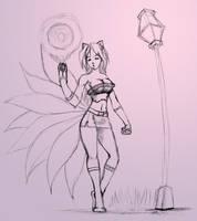 Quick sketch Ahri by Chacartz