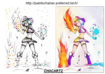 Montage Paintschainer 01 by Chacartz