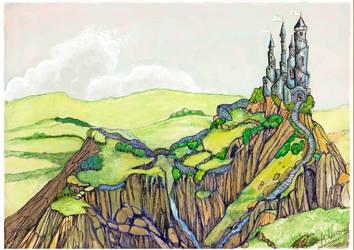 Eowyn and Faramir palace by adrilida1411