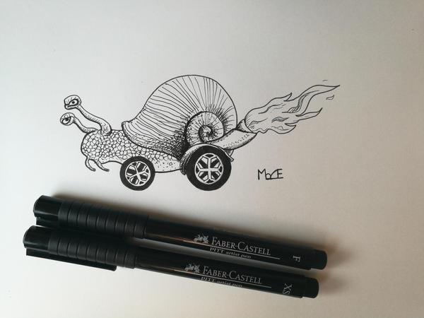 Inktober 2016, Day 1: Fast by TheBizarreSuite