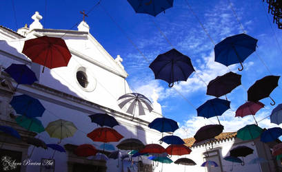 Umbrellas at the sun by SaraPereiraArt