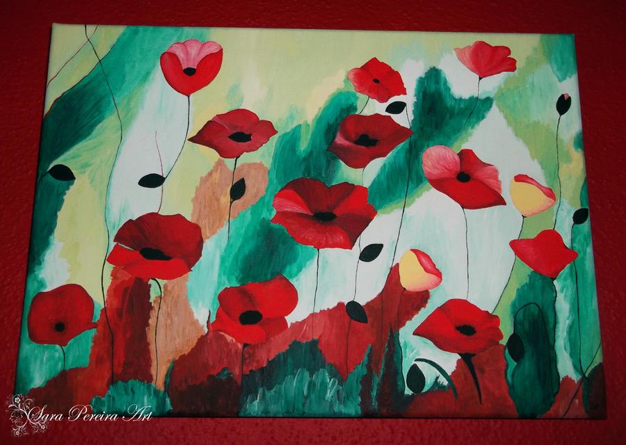 Poppies by SaraPereiraArt