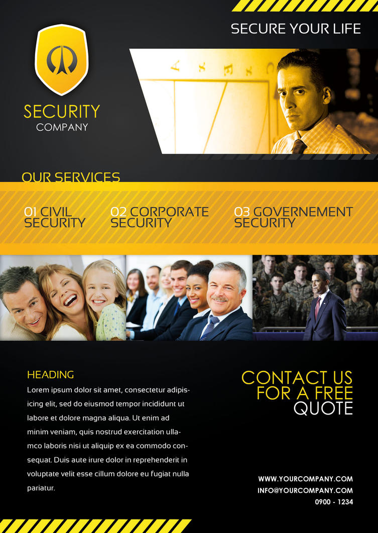 Security Sample Flyer by NateJ25 on DeviantArt Security Sample Flyer by NateJ25 ...