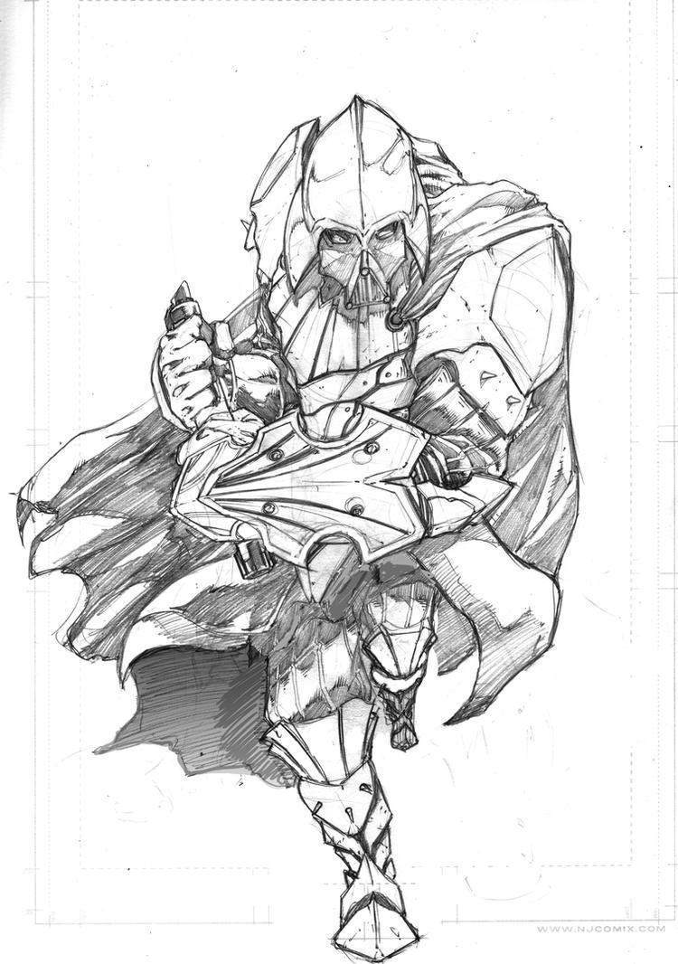 Medieval Darth Vader Commission Sketch by NateJ25 on DeviantArt