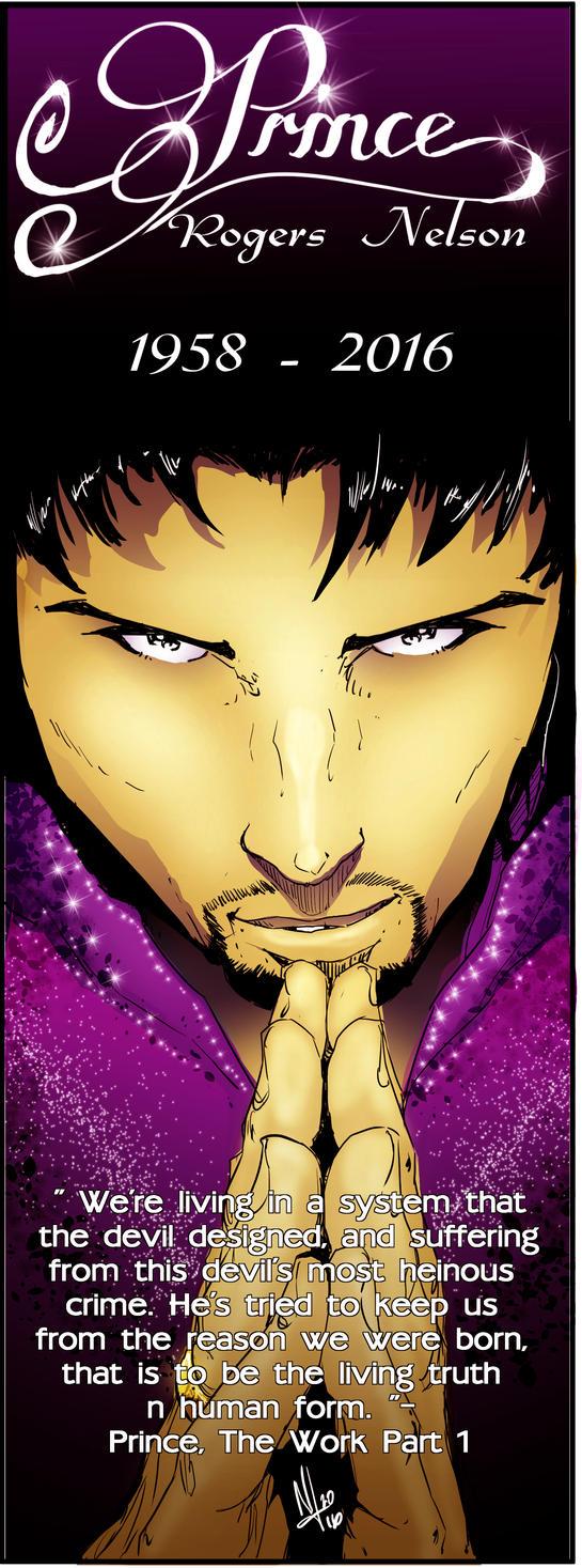 R.I.P.  Prince : The Artist by NateJ25