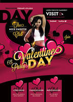 Flyer Valentine Party Day by n2n44