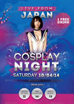 Japan Cosplay Night Flyer by n2n44