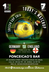 Soccer Cup Match Of The Day In Brazil Bar by n2n44