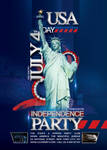 Flyer July 4th Independence Day Party Usa
