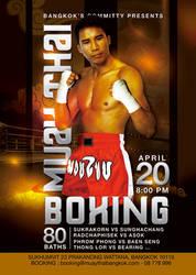 Muay Thai Boxing Meeting Bangkok Flyer by n2n44