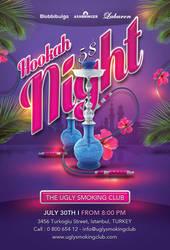 Smoking Hookah Night In Istanbul Club Flyer by n2n44