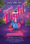 Smoking Hookah Night In Istanbul Club
