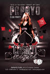 Dice Is Casino Night Club Party Flyer Template by n2n44