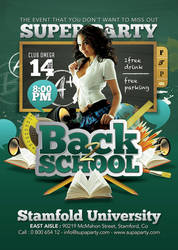 Back To School Super University Party Flyer by n2n44