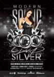 Silver Club Modern Sound Night Party flyer by n2n44
