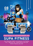 Flyer Super Modern Fitness Club Advertising Openin by n2n44
