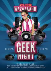 Special Geek Night Party In Club Flyer by n2n44