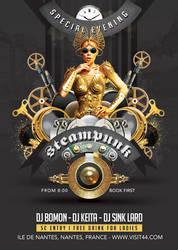 Steampunk Festival Special Party in Club Flyer by n2n44