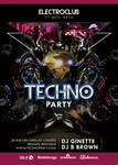 Abstract Electro Techno Party Night With Dj Flyer by n2n44