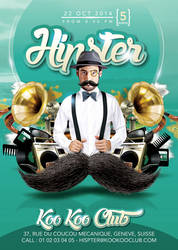 Hipster Themed Private Party in Club Flyer by n2n44