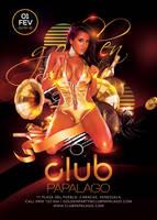 Classy Retro Modern Golden Party In Club by n2n44