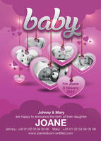 Baby Birth Announcement Flyer by n2n44