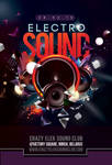 Abstract Electro Sound Night Party In Club