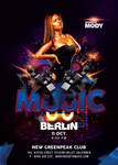 Ultra Modern Techno Music Party In Club Flyer by n2n44