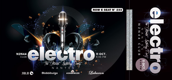 Electro Concert Ticket by n2n44