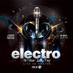 Cd Cover Electro Concert Or Squared Party Flyer by n2n44