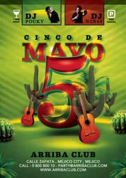 5 De Mayo Flyer Template by n2n44