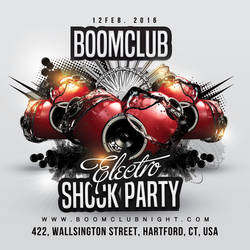 Electro Shock Party Flyer by n2n44