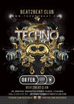 Techno Beat Party Flyer by n2n44