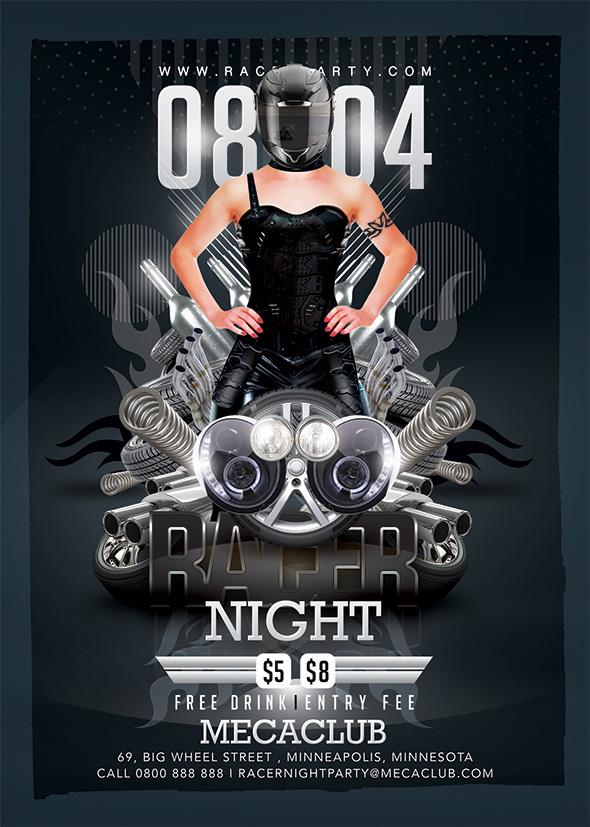Racer Mechanics Night by n2n44