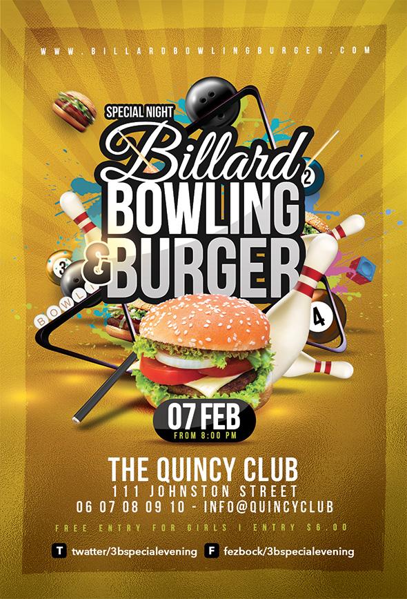 Billiard Bowling Burger Party by n2n44