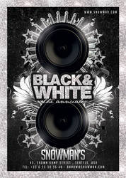 Black And White Lounge Flyer by n2n44