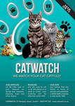 Cat Lover Shop Watch Care Business Flyer Template
