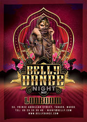 Oriental Belly Dance Night Flyer by n2n44