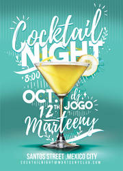 Cocktail Night Flyer by n2n44