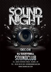 Sound Night Party Flyer by n2n44