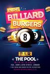 Billiard Burgers Pool Flyer by n2n44