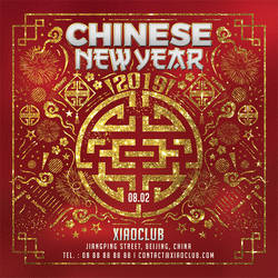Squared Chinese New Year Flyer by n2n44