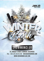 Winter Holiday Bash flyer template by n2n44