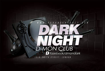 Black Night Party Flyer by n2n44