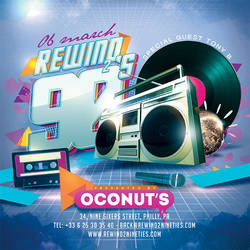 Squared Back To 90s Retro Flyer by n2n44