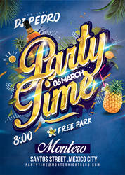 Party Time Club Flyer Template by n2n44