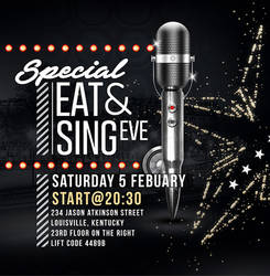 Flyer Eat And Sing by n2n44